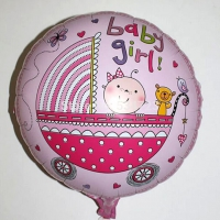 №10017 fed_Шарик Baby-Girl розовый(в коляске)