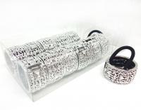 №10202 Резинка хвостовая серебро 12шт
