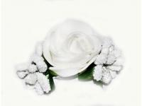 №1027 Заколка Цветок белая
