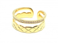 №10504 Кольцо XuPing золото 14К One-size