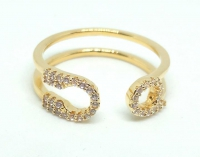 №10507 Кольцо XuPing золото 14К One-size