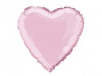 №11260 fed_ Сердце 18 дюймов(45х45см) светло розовое Китай