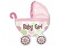№11340 fed_ Коляска Baby Girl(розовая) 60х80см.(большая)