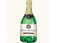№11341 fed_ Шарик из фольги Шампанское 80х45см Китай