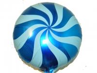 №11347 fed_ Фольга круг спираль синяя 45х45см