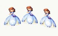 №1355 Кабошон-серединка принцесса голуб.платье