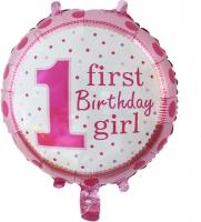 №2016 fed_ Шар фольга First Girl