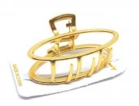 №2193 Заколка краб овал золото