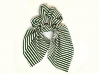 №2238 Резинка твилли полоска зел-бел.26см