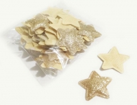 №246 кабошон звезда маленькая золото