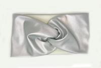 №3719 Повязка экокожа флис серебро шир.11см