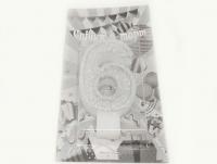 №508 Свечка в торт серебро 6-ка