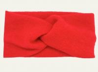 №50882 Повязка детская широкая ангора ярко-красная 19х8см