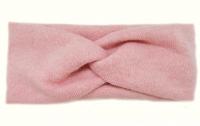 №50883 Повязка детская широкая ангора розовая 19х8см