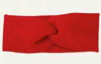 №51081 Повязка узкая детская ангора ярко-красная 19х6см