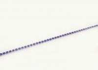 №5132 Браслет Xuping серебро регулируется синие камни