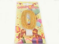 №514 Свечка в торт золото 0