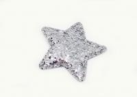 №56815 Звезда глиттерная серебро 10шт