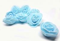 №56893 Розочки голубые 50шт