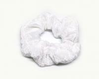 №5696 Резинка бархатная белая диам. 10см