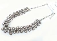 №5891 Ожерелье серебро ромашки короткая цепочка