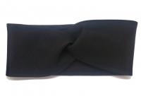 №6185 Повязка детская подростковая однослойная 8х43см замш черная