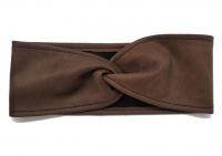№6186 Повязка детская подростковая однослойная 8х43см замш коричневая