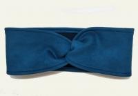 №6197 Повязка детская подростковая однослойная 8х43см замш синяя