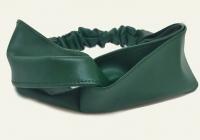 №6233 Повязка экокожа переплет зеленый