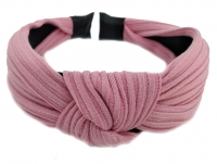 №6256 Обруч трикотаж розовый 4см