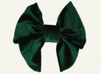 №6261 Заколка бант велюр зеленый
