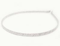 №634 Обруч обмотанный серебро