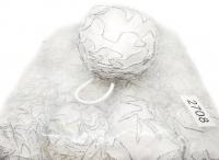 №684 Резинка-2708 белая шарик с люрексом 20шт
