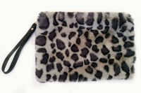 №771 Сумка гепард серый мех