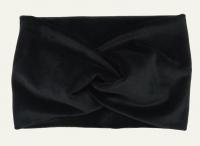 №8001 Повязка плюш(спорт-велюр) черная 21х14см