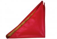 №8011 Платок экокожа красный треугольный 100х67х67