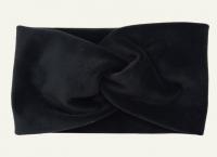 №8043 Повязка плюш (спорт-велюр) черная 21х11см