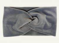 №8052 Повязка плюш (спорт-велюр) серая 21х11см