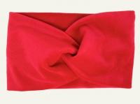 №8053 Повязка плюш (спорт-велюр) красная 21х11см