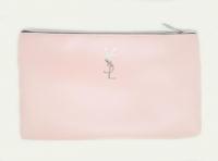 №8086 Косметичка розовая плоская