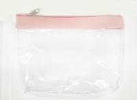 №8090 Косметичка прозрачная с розовым